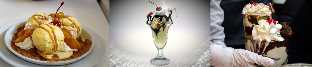 ice cream ghirardelli - mango-caramel-dessert