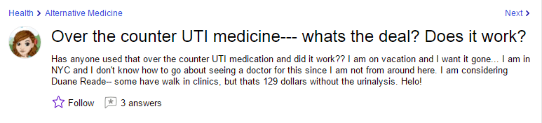 Over the counter UTI medicine--- whats the deal Does it work