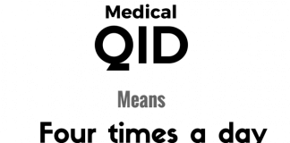 QID Medical Abbreviation