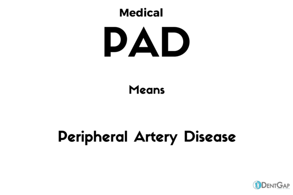 PAD Medical Abbreviation - What does pad stand for