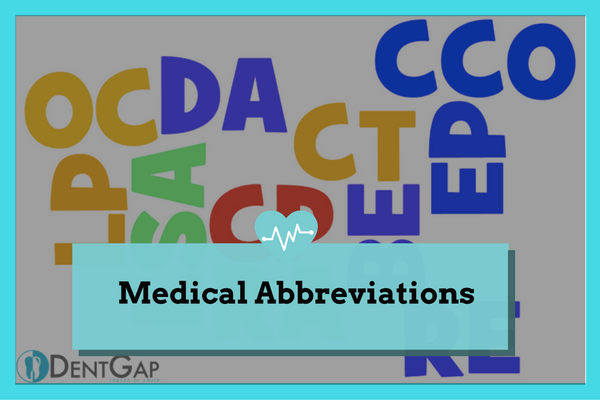 Medical Abbreviations Full List