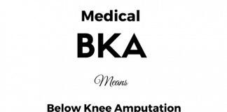 BKA Medical Abbreviation