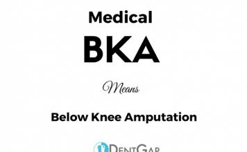 BKA Medical Abbreviation